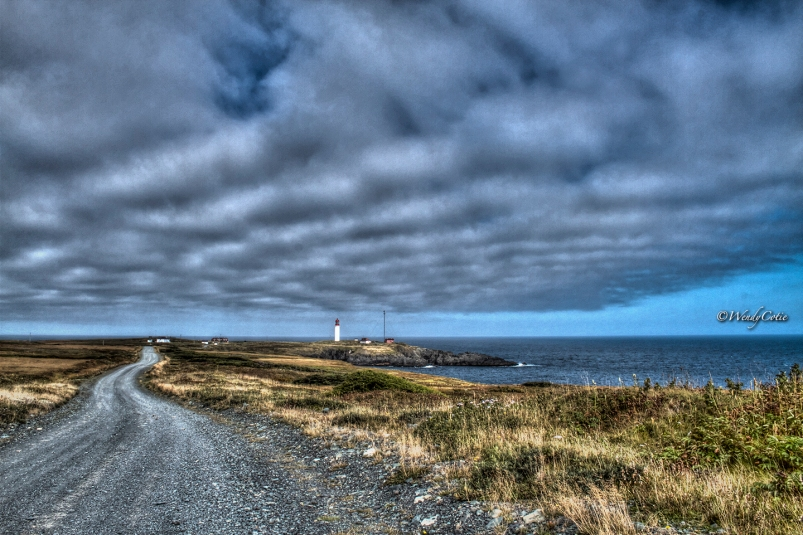 Almost at the end of the endless road to the Cape Race Lighthouse